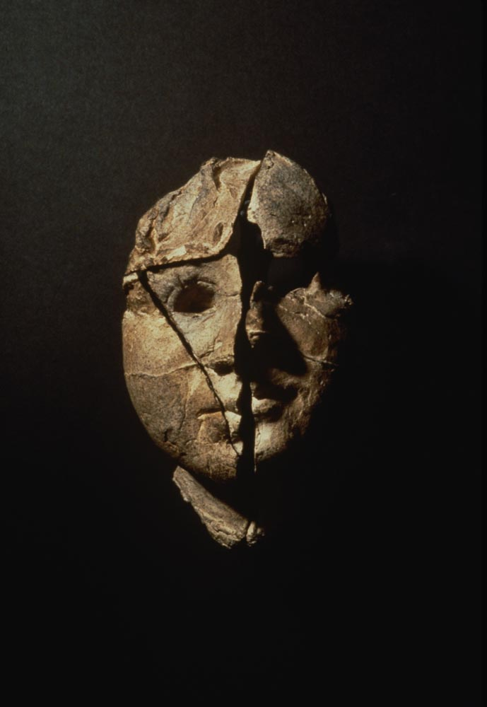 "Excavation 1. 1996. Ceramic, steel. 7 x 4 x 3"". Darrin Hallowell"