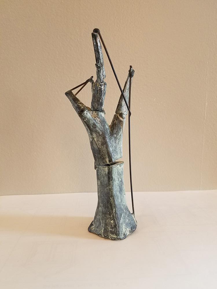 Darrin Hallowell, Little Tree Repair Sculpture, bronze, 1999
