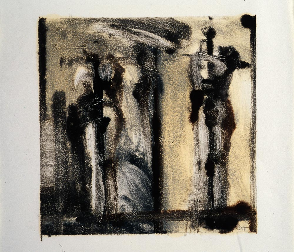 """Untitled (Preliminary Drawing For Sculpture, Monotype) 2000. 9 x 12"""". Darrin Hallowell"""