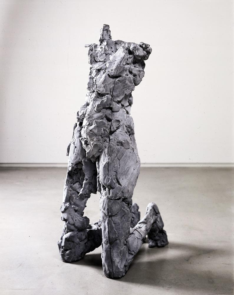 """Yield Resist. 2000. Aluminum. 46.5 x 18 x 23"""". Darrin Hallowell"""