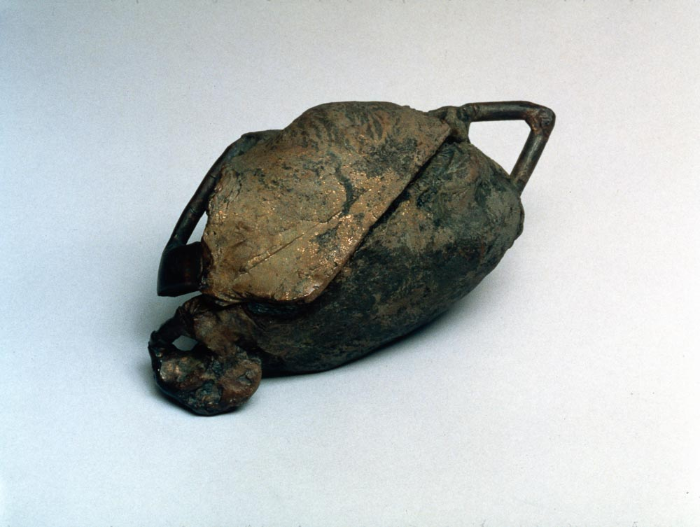 "Shell. 2000. Bronze. 4 x 5 x 4.5"". Darrin Hallowell"