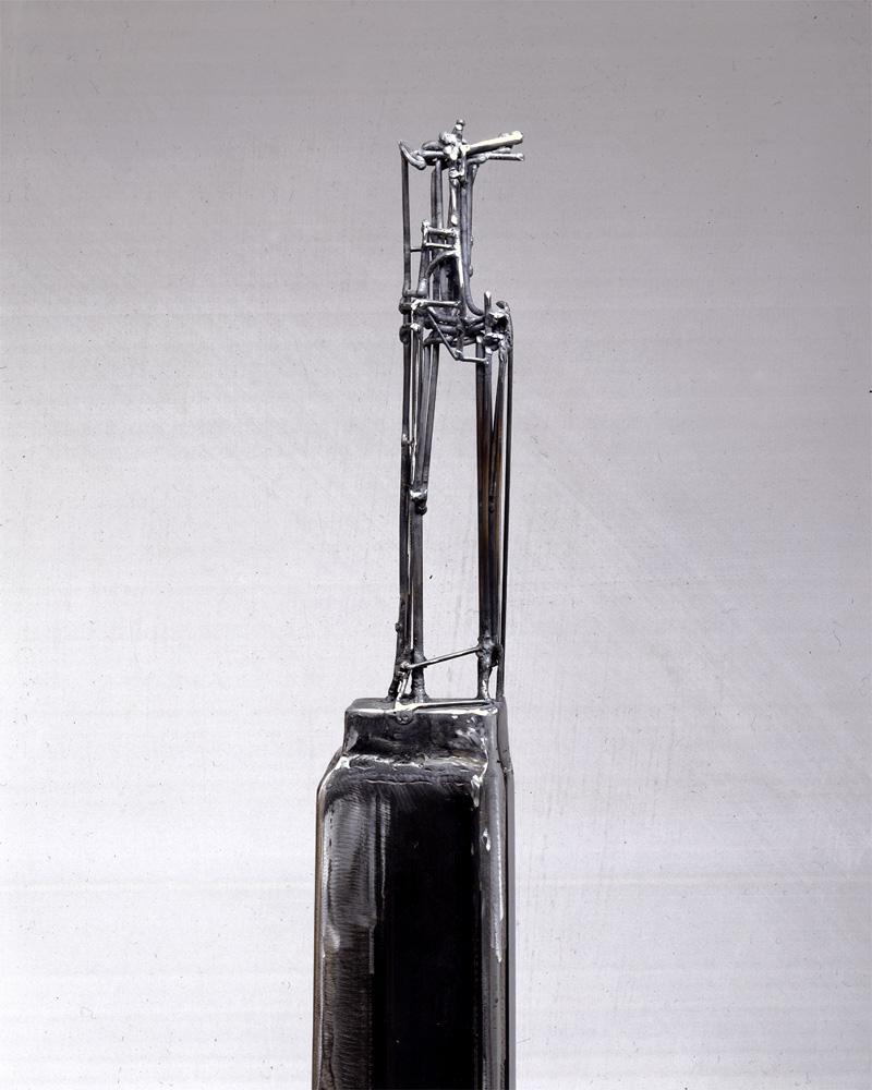 "Bulwark 2. 1999. Steel. 60 x 5 x 6"". Darrin Hallowell"