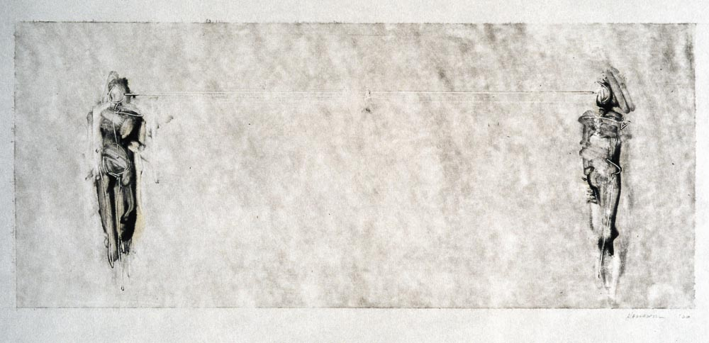 Untitled (Proposal Preliminary Drawing 1 Monotype). 2001. Monotype. Darrin Hallowell