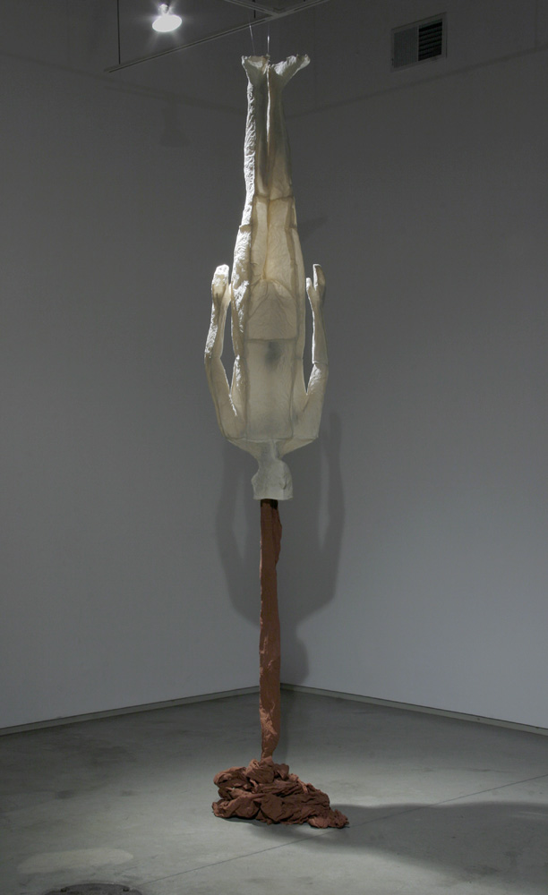 Heart Line. 2007. Dimensions variable. Muslin, resin, thread and iron oxide. Darrin Hallowell