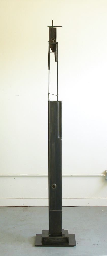 "Bulwark (Two Circles). 2007. Steel. 65 x 11 x 8"". Darrin Hallowell"