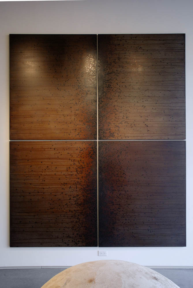 Gathering (Particles & Lines, Polyptych), Darrin Hallowell, 2014