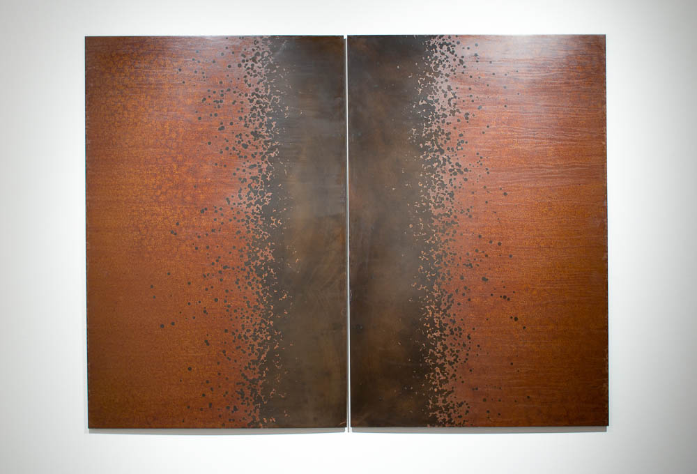 Gathering (Iron), Darrin Hallowell, 2014, Oxidized steel