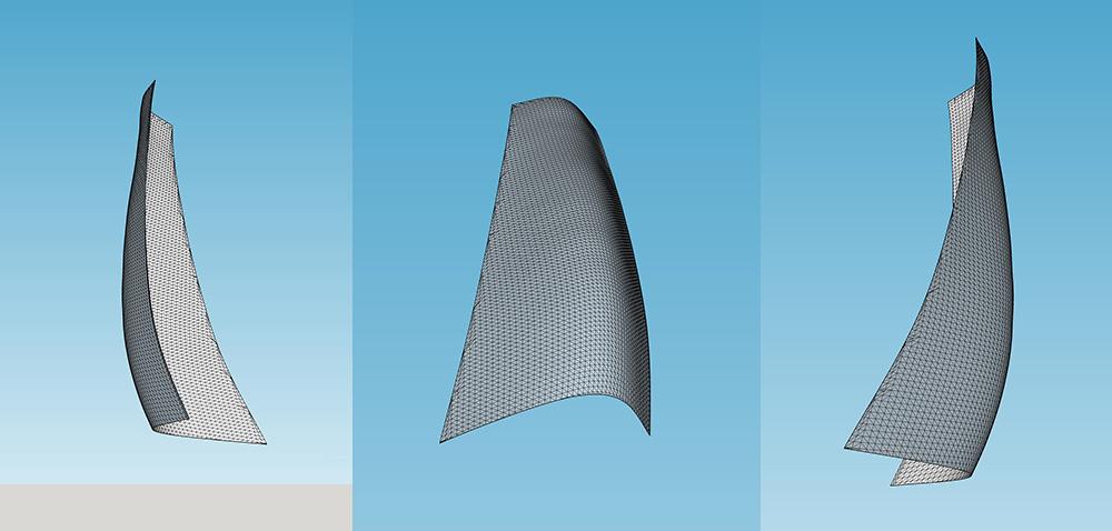 Untitled Rendering of Proposed Sculpture (Figurative Element) Darrin Hallowell, Aluminum, 2017, Illinois Capital Development Board Proposal, Art In Architecture, Sculpture