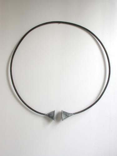 "Circle Funnel. 2003. Copper. 37 x 37 x 5"". Darrin Hallowell"