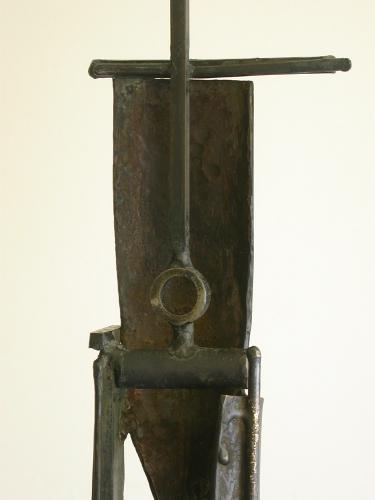 "Bulwark (Two Circles). 2007. Steel. 65 x 11 x 8"". Back view. Darrin Hallowell"