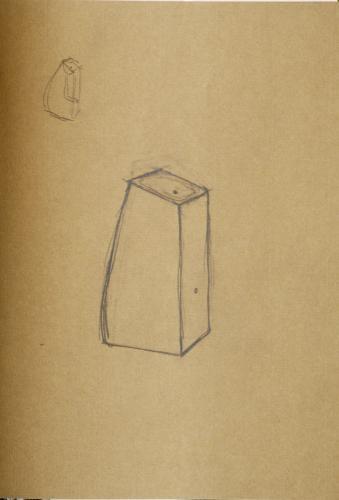 "Untitled Funnel Vessel Drawing. 2008. Pencil on paper. 8 x 10"". Darrin Hallowell"