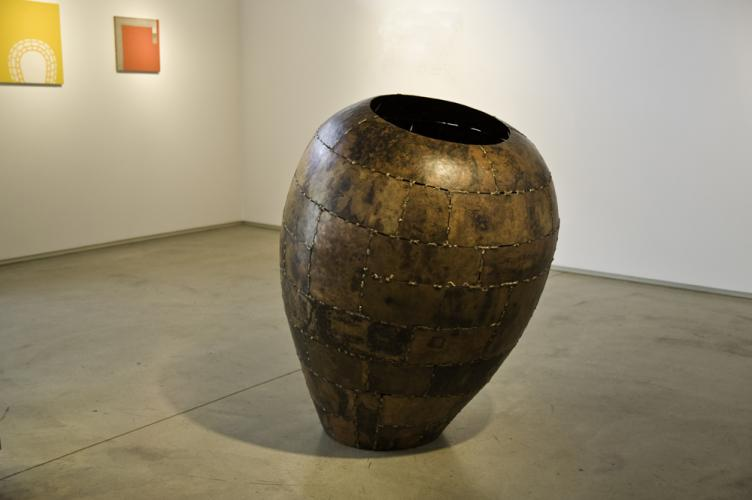 "Open Vessel. 2009. Bronze. 55 x 37 x 37"". Darrin Hallowell"