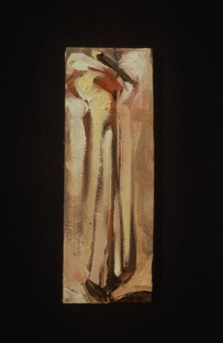 Untitled (Linear #5). 1997. Oil. 9 x 3