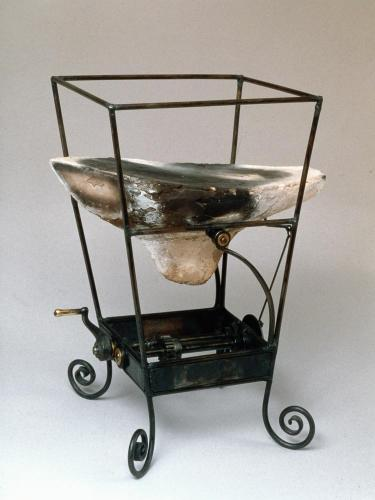 Kinetic Toy with Boat. 1997. Ceramic, steel. 15x9x10