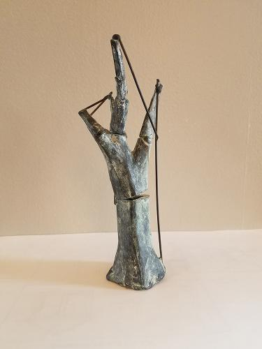Darrin Hallowell, Little Tree Repair Sculpture, bronze, 1999