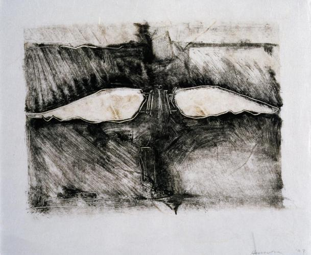 Untitled (Preliminary Drawing For Sculpture With Wings #2, Monotype) 1999. 8 x 10
