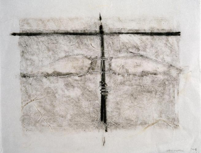 Untitled (Preliminary Drawing For Sculpture With Wings #3, Monotype) 1999. 8 x 10