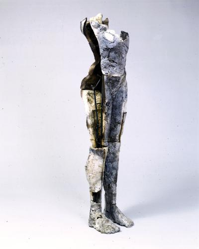 Sustain Decay. 1999. Ceramic and stainless steel, 58 x 15 x 13