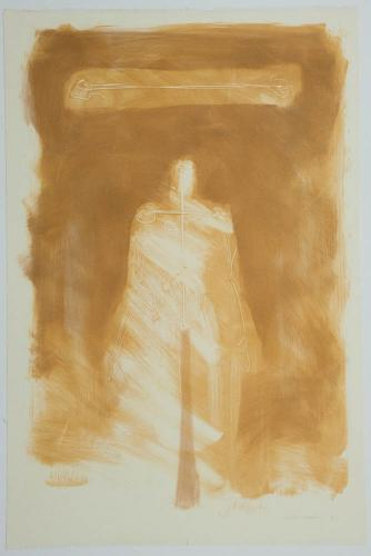 Untitled (Figure with Funnel). 2001. Monotype. 22¼ x 15