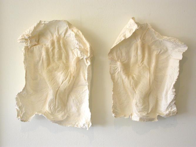Palimpsest (Chauvet's Dream). 2007. Muslin, resin, thread. 26 x 17 x 3