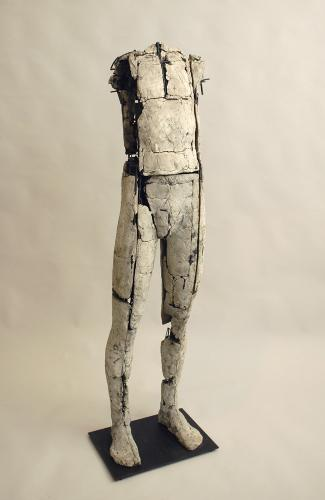 Untitled Figure. 2007. Ceramic and stainless steel. 59 x 15 x 13
