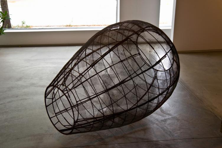 Open Vessel (Trace). 2009. Steel. 55 x 37 x 37