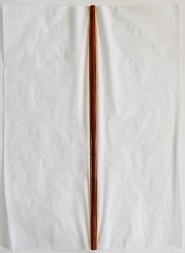 Untitled (Iron Line). 2010. Iron oxide on vellum. 23½ x 18