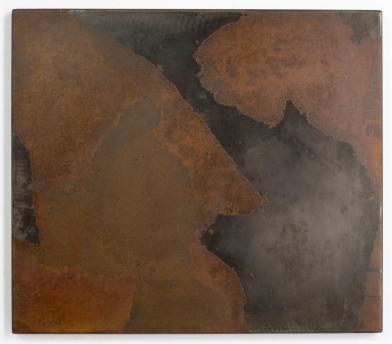 Darrin Hallowell, Untitled (Deltas 2). 2014. Oxidized steel, Paintings Prints & Drawings, Iron Prints, Actuation - Conversion, Sculpture