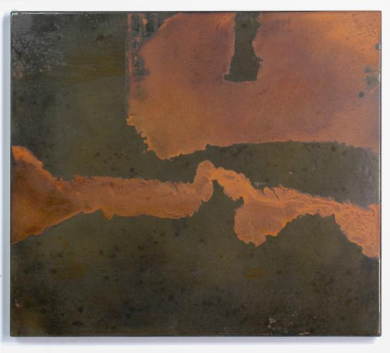 Darrin Hallowell, Untitled (River & Delta), 2014. Oxidized steel, Paintings Prints & Drawings, Iron Prints, Actuation - Conversion, Sculpture