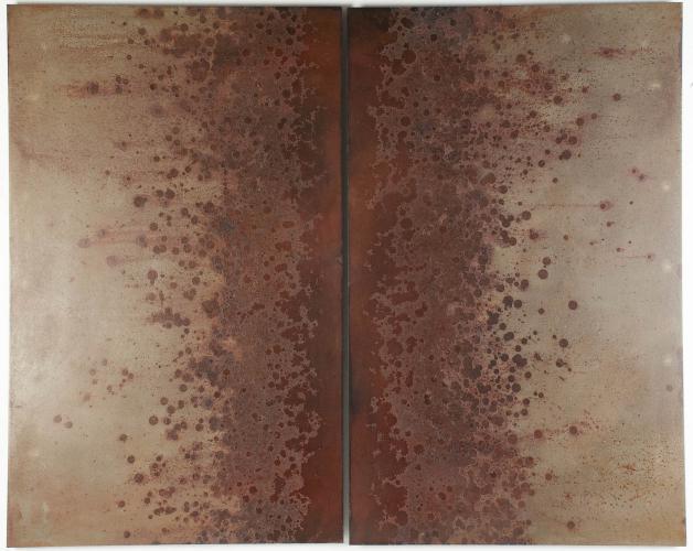 Iron Bloom (Trail). 2014. Steel, iron oxide. 30 x 37½