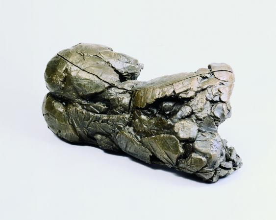 """Fallen. 1995. Bronze. 13 x 32 x 20"""". Darrin Hallowell"""