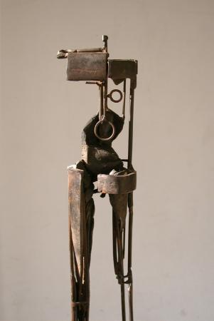 "Bulwark (Circle with Bronze). 2003. Steel. 60 x 9 x 9"". Darrin Hallowell"