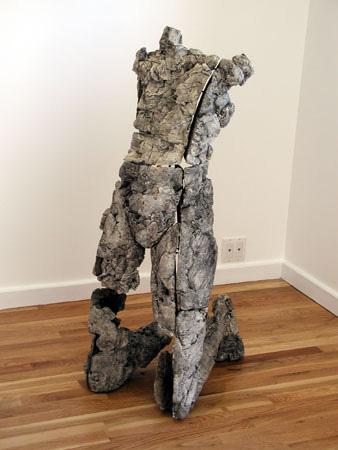 """Yield Resist. 2000. Ceramic and stainless steel. 46.5 x 18 x 23"""". Darrin Hallowell"""