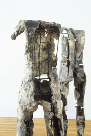 Seven Figures. 2004. Ceramic, stainless steel. Dimensions variable. Detail. Darrin Hallowell