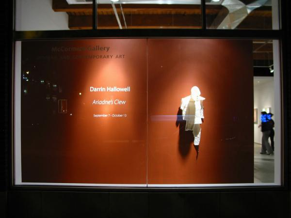 Ariadne's Clew. 2007. View of Waiting in McCormick Gallery window. Darrin Hallowell