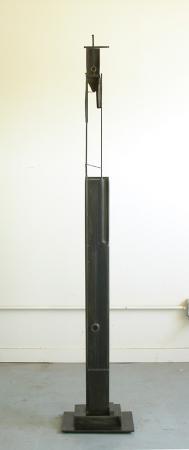 "Bulwark (Two Circles). 2007. Steel. 65 x 11 x 8"". Darrin Hallowell"