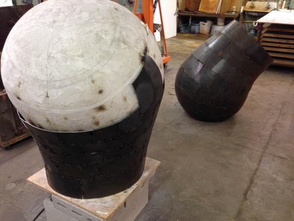 Open Vessel (Intake), Darrin Hallowell, 2014, In progress  with Open Vessel (Intake Trace)