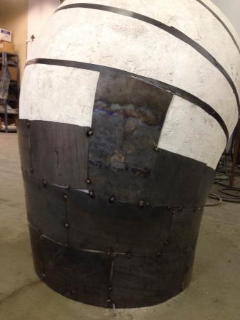 Open Vessel (Intake), Darrin Hallowell, 2013, In progress - Corten Steel over plaster form