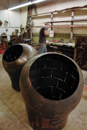 Open Vessel (Intake 1&2) - Prepping for Actuation Conversion at McCormick Gallery Chicago, 2014