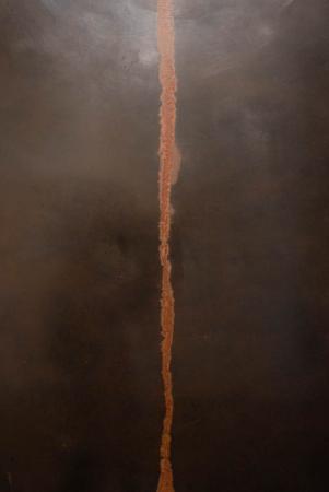 Line (Trace) - Detail, Darrin Hallowell, 2014, Oxidized steel