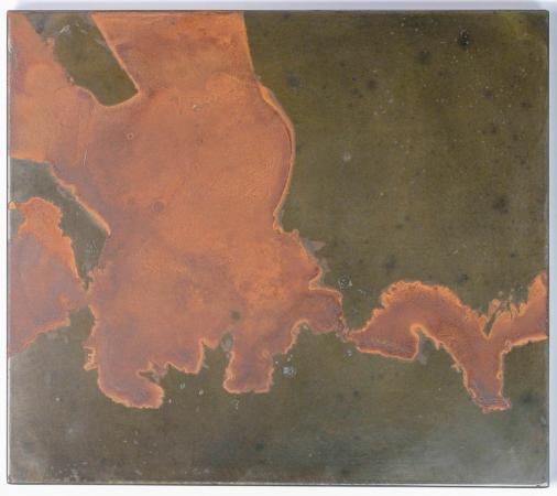Untitled (Delta), Oxidized Steel, 2014, Darrin Hallowell, From Actuation Conversion exhibit, Chicago