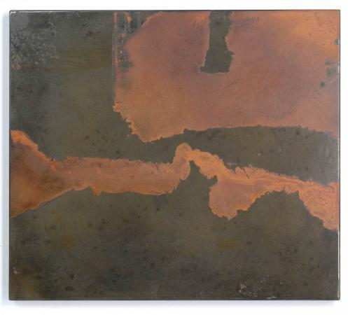 Untitled (River & Delta), Oxidized Steel, 2014, Darrin Hallowell, From Actuation Conversion exhibit, Chicago
