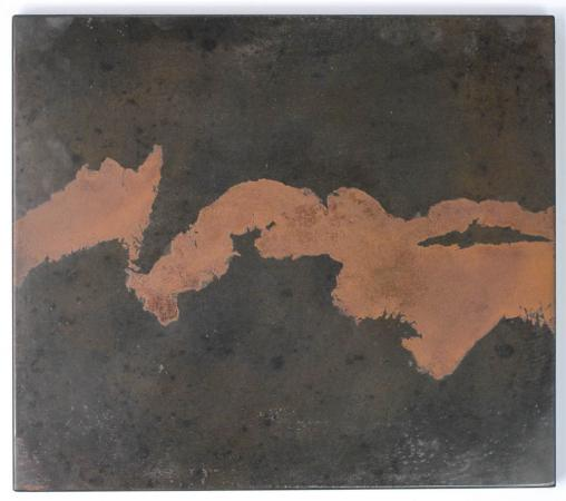 Untitled (Iron River), Oxidized Steel, 2014, Darrin Hallowell, From Actuation Conversion exhibit, Chicago