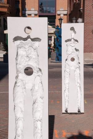 Points of Influence. 2014. Concrete. Dimensions Variable. Detail. Oak Park Sculpture Walk, Oak Park, Illinois. Darrin Hallowell