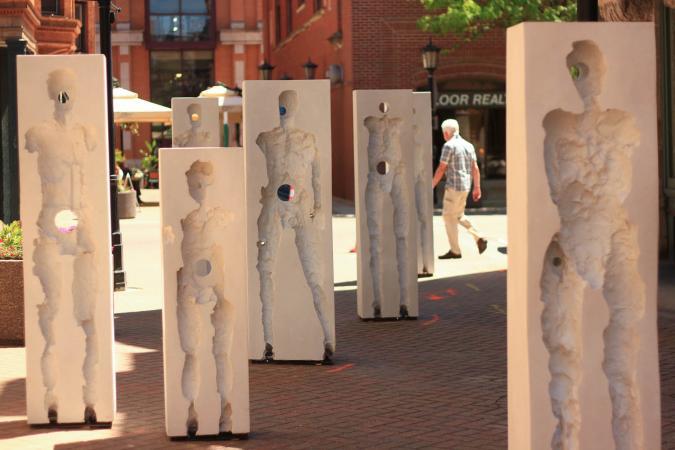 Points of Influence. 2014. Concrete. Dimensions Variable. Oak Park Sculpture Walk, Oak Park, Illinois. Darrin Hallowell