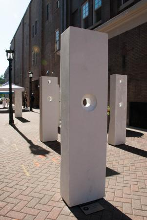 Points of Influence. 2014. Concrete. Dimensions Variable. Detail 4. Oak Park Sculpture Walk, Oak Park, Illinois. Darrin Hallowell