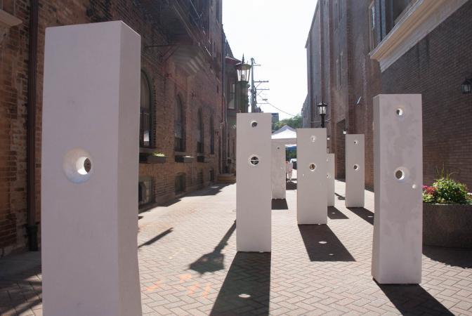 Points Of Influence, Oak Park Sculpture Walk, 2014 Darrin Hallowell