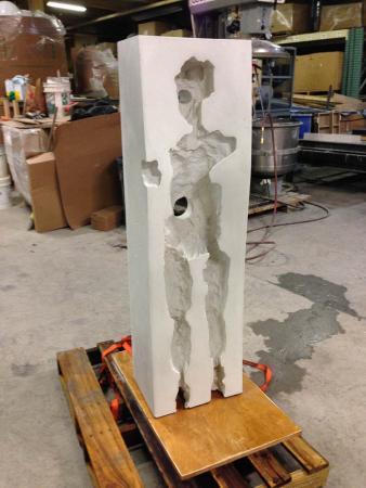 Points of Influence. 2014. Concrete. Dimensions Variable. Process Image 5. Oak Park Sculpture Walk, Oak Park, Illinois. Darrin Hallowell