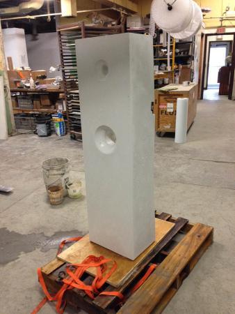 Points of Influence. 2014. Concrete. Dimensions Variable. Process Image 7. Oak Park Sculpture Walk, Oak Park, Illinois. Darrin Hallowell