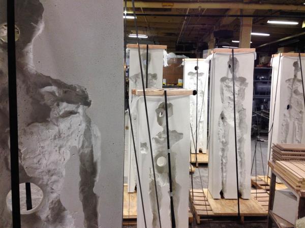 Points of Influence. 2014. Concrete. Dimensions Variable. Process Image 19. Oak Park Sculpture Walk, Oak Park, Illinois. Darrin Hallowe25
